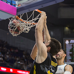 May 31, 2018 - Madrid, Madrid, Spain - Mike Tobey during Real Madrid victory over Iberostar Tenerife (83 - 73) in Liga Endesa playoff 1st round (game 1) celebrated in Madrid at Wizink Center. May 27th 2018. (Credit Image: © Juan Carlos Garcia Mate/Pacific Press via ZUMA Wire)