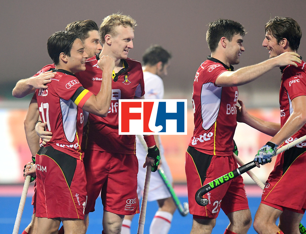 Odisha Men's Hockey World League Final Bhubaneswar 2017<br /> Match id:07<br /> Belgium v Spain<br /> Foto: Belgium scored a goal thats not a goal<br /> WORLDSPORTPICS COPYRIGHT FRANK UIJLENBROEK