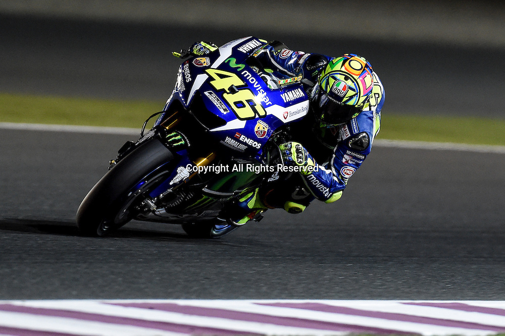 18.03.2016. Losail International Circuit, Doha, Qatar.Commercial Bank Grand Prix of Qatar. Valentino rossi (Movistar Yamaha) during the free practice sessions.