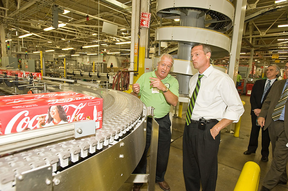 Coca-Cola Enterprises hosts Governor Martin O'Malley and the Maryland Green Registry participants in addition to other state and local officials at the Baltimore production plant, Wednesday, September 30, 2009.