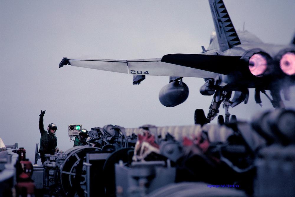 F-18 on catapult