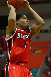 04 February 2012:   during an NCAA Missouri Valley Conference mens basketball game where the Bradley Braves lost to the Illinois State Redbirds 78 - 48 in Redbird Arena, Normal IL