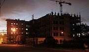 ' Under construction at night '