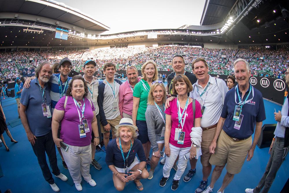 Hospitality on court on day ten of the 2018 Australian Open in Melbourne Australia on Wednesday January 24, 2018.<br /> (Ben Solomon/Tennis Australia)