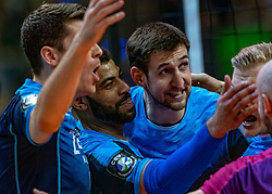 18-05-2019 GER: CEV CL Super Finals Zenit Kazan - Cucine Lube Civitanova, Berlin<br /> Civitanova win the Champions League by beating Zenit in four sets / Matthew John Anderson #1 of Zenit Kazan, Earvin Ngapeth #9 of Zenit Kazan, Artem Volvich #4 of Zenit Kazan