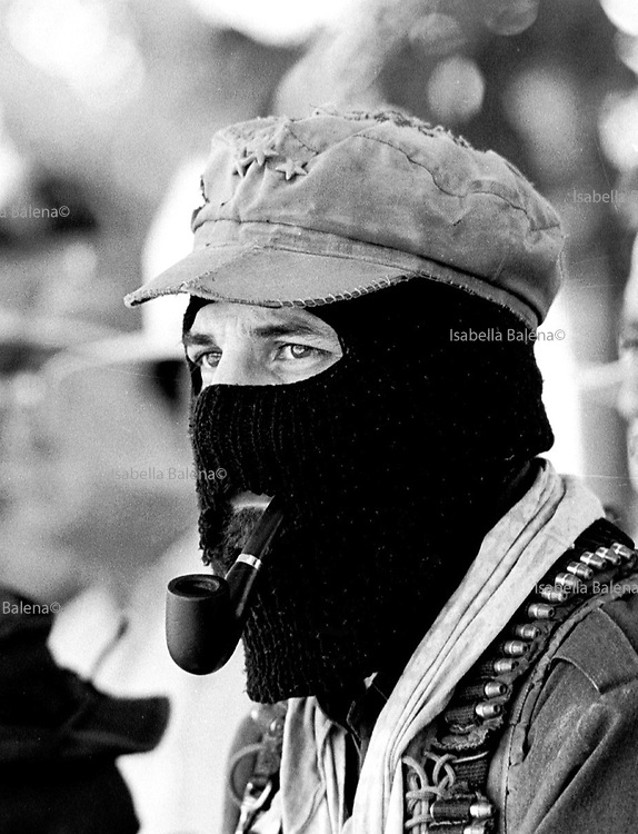 21 July 1996, Mexico, Chiapas, La Realidad, Subcomandante Marcos, sheet n°29 © ISABELLA BALENA www.isabellabalena.com