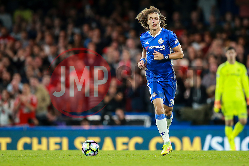 David Luiz of Chelsea in action - Mandatory by-line: Jason Brown/JMP - 16/09/2016 - FOOTBALL - Stamford Bridge - London, England - Chelsea v Liverpool - Premier League