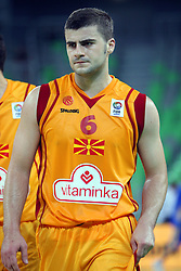 Darko Sokolov of Macedonia at friendly match between Macedonia and BIH for Adecco Cup 2011 as part of exhibition games before European Championship Lithuania on August xx, 2011, in SRC Stozice, Ljubljana, Slovenia. (Photo by Urban Urbanc / Sportida)