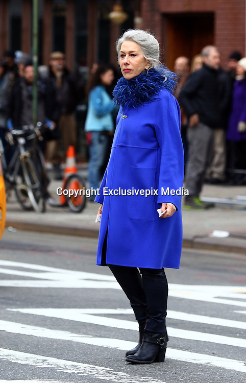 February 29, 2016 - New York City, NY, USA - <br /> <br /> Actress Helen Mirren was on the set of the new movie 'Collateral Beauty' on February 29 2016 in New York City<br /> ©Exclusivepix Media