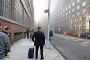 1 April 2010-New York, NY- A fire broke out in a shanty town on Freight Train Tracks on West 43rd and 10th Avenue on April 1, 2010 leaving traffic snarled further during rush hour. Cause of fire is not known at this time.