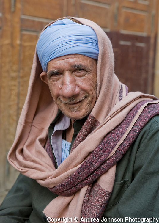 Portrait of an Eyptian man in the ancient Khan el Khalili Bazaar, which dates back to 1382, Cairo, Egypt