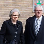 NLD/Rotterdam/20180220 - Herdenkingsdienst Ruud Lubbers, politica Hanja Maij-Weggen en partner