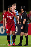 SYDNEY, AUSTRALIA - APRIL 10: Shanghai SIPG FC player Hulk (10) unhappy with the referee after the match at The AFC Champions League football game between Sydney FC and Shanghai SIPG FC on April 10, 2019, at Netstrata Jubilee Stadium in Sydney, Australia. (Photo by Speed Media/Icon Sportswire)
