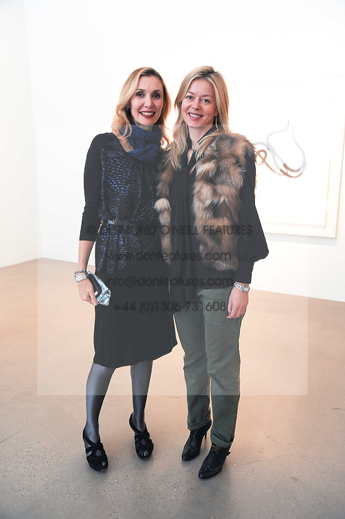 Left to right, ALLEGRA HICKS and LADY HELEN TAYLOR at a party to celebrate the publication of Allegra Hick's book 'An Eye For Design' held at he Timothy Taylor Gallery, Carlos Place, London on 23rd November 2010.