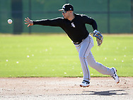GLENDALE, ARIZONA - FEBRUARY 19: Nick Madrigal #92 of the Chicago White Sox fields during spring training workouts on February 19, 2019 at Camelback Ranch in Glendale Arizona.  (Photo by Ron Vesely). Subject:   Nick Madrigal