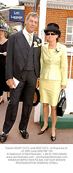Trainer HENRY CECIL and MRS CECIL, at Royal Ascot on 20th June 2002.			PBF 105