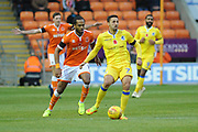 Bristol Rovers Midfielder, Liam Sercombe (7) and Blackpool Forward, Nathan Delfouneso (7)  during the EFL Sky Bet League 1 match between Blackpool and Bristol Rovers at Bloomfield Road, Blackpool, England on 3 November 2018.