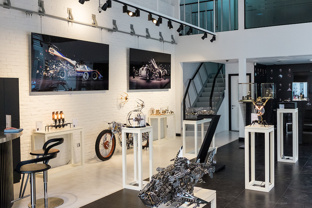 DUBAI, UAE - APRIL 30, 2016: The MB&F M.A.D. (Mechanical Art Devices) Gallery is located in Alserkal Avenue in Dubai' Al Quoz Industrial Area.