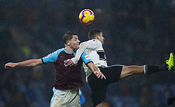 James Tarkowski of Burnley (L) and Aleksandar Mitrovic of Fulham in action - Mandatory by-line: Jack Phillips/JMP - 12/01/2019 - FOOTBALL - Turf Moor - Burnley, England - Burnley v Fulham - English Premier League