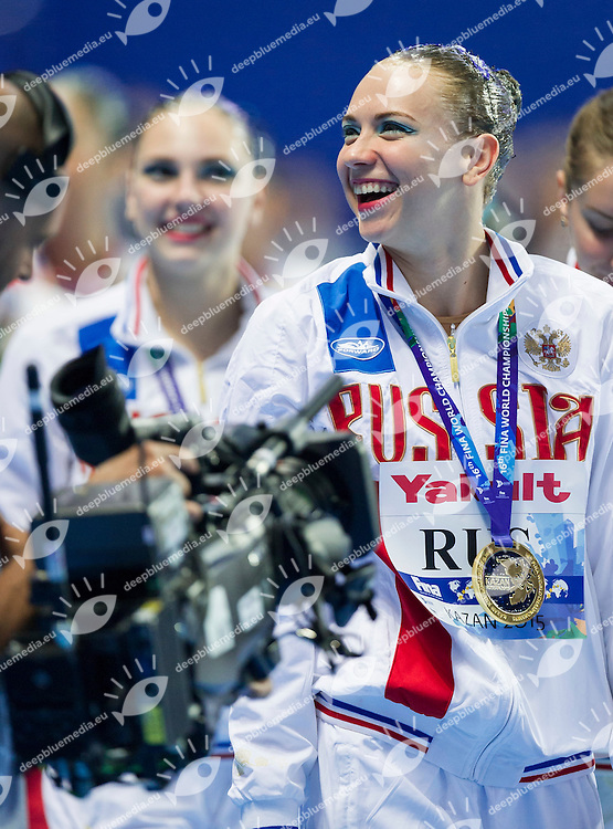 Podium<br /> Gold Medal<br /> TIMANINA Angelica<br /> Team Free Final<br /> Day8 10/07/2015<br /> XVI FINA World Championships Aquatics<br /> Synchro<br /> Kazan Tatarstan RUS July 24 - Aug. 9 2015 <br /> Photo Pasquale Mesiano/Deepbluemedia/Insidefoto