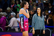 Steel's Coach, Reinga Bloxom & Jennifer O'Connell after the Steel Vs Mystics, ANZ Premiership, ILT Stadium, Invercargill, New Zealand.  Super Sunday, 5 May 2019.  © Copyright Photo:  Clare Toia-Bailey / www.photosport.nz