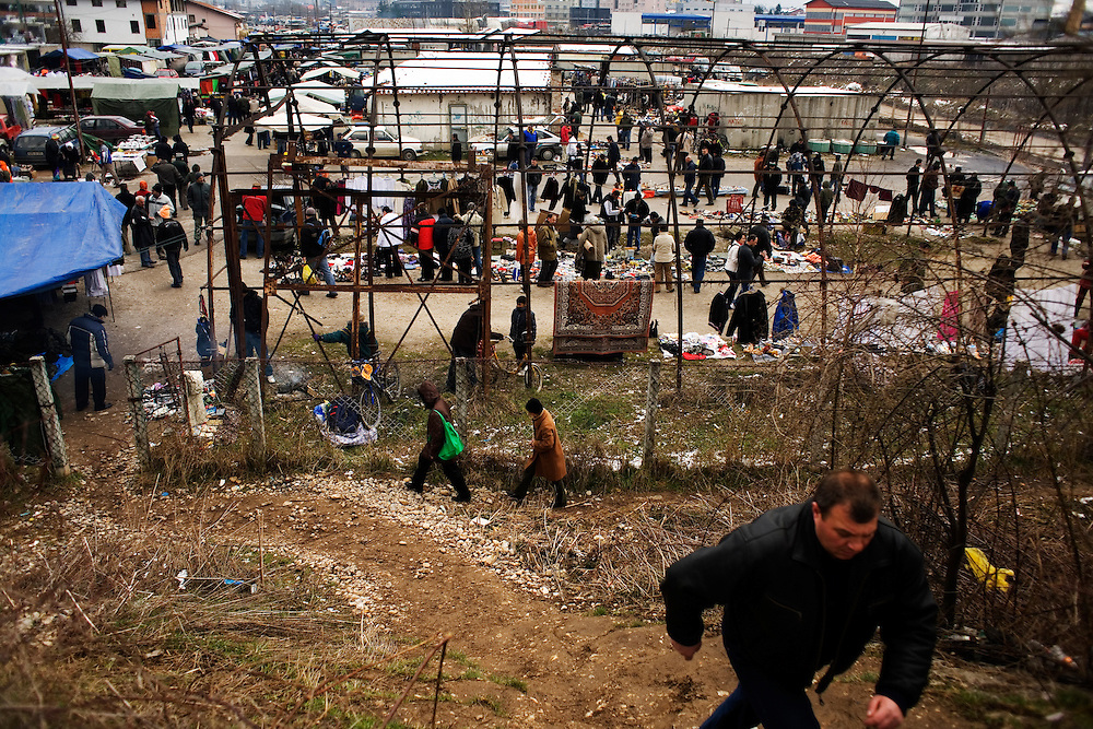 "In the massive ""car market"" on the outskirts of Sarajevo, Bosnia and Herzegovina, March 22, 2009."