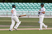100 Ben Slater celebrates scoring 100 on debut for Leicestershire during the Bob Willis Trophy match between Lancashire County Cricket Club and Leicestershire County Cricket Club at Blackfinch New Road, Worcester, United Kingdom on 2 August 2020.