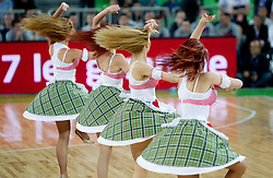 Cheerladers Stars during final match of Basketball NLB League at Final four tournament between KK Union Olimpija (SLO) and Partizan Belgrade (SRB), on April 21, 2011 in Arena Stozice, Ljubljana, Slovenia. Partizan defeated Union Olimpija 77-74 and became NLB league Champion 2011.  (Photo By Vid Ponikvar / Sportida.com)