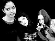 Three goth looking girls