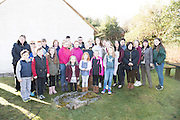 28/03/2016Pictured at Pearse's Cottage, Teach an Phiarsaigh, in Rosmuc in Connemara during a special broadcast of RT&Eacute; Raidi&oacute; na Gaeltachta programme Adhmhaidin on Easter Monday 28 March 2016.  <br /> <br /> Patrick Pearse used the cottage as a summer house, and also as summer school for his pupils from St Enda&rsquo;s school in Dublin.  He was inspired by the people and the culture of the area, and it is said that he composed the graveside oration he gave at O&rsquo;Donovan Rossa&rsquo;s funeral in 1915 there.<br /> <br /> The broadcast was to commemorate the centenary of the Easter Rising, and also marked 30 years on air for the programme.  <br /> Photo:Andrew Downes, xposure.