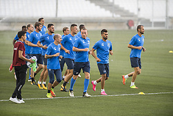 July 26, 2017 - Marseille, FRANCE - Oostende's players pictured in action during a training session of Belgian first division soccer team KV Oostende ahead of the first leg of the third qualifying round for the UEFA Europa League competition, Wednesday 26 July 2017 in Marseille. KV Oostende plays against Olympic Marseille on Thursday...BELGA PHOTO LAURIE DIEFFEMBACQ (Credit Image: © Laurie Dieffembacq/Belga via ZUMA Press)