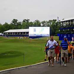 Apr 30, 2016; Avondale, LA, USA; Fans head for shelter a inclement weather approaches during suspension of play for the third round of the 2016 Zurich Classic of New Orleans at TPC Louisiana. Mandatory Credit: Derick E. Hingle-USA TODAY Sports