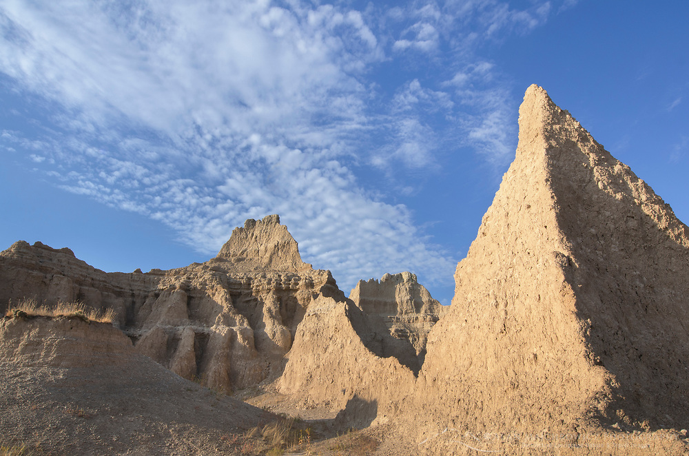 Badlands formations. Badlands National Park South Dakota