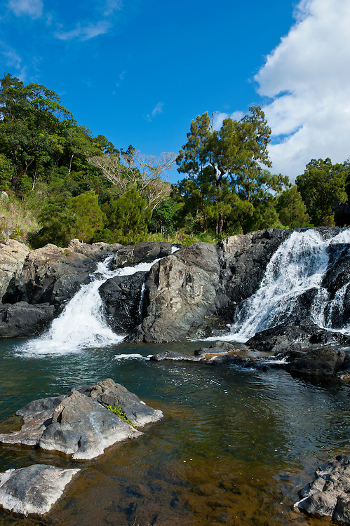 Waterfalls of Ciu on the east coast of Grande Terre, New Caledonia, Melanesia, South Pacific