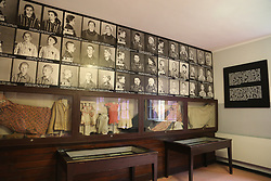 Pictures and belongings of young victims are on display at Auschwitz-Birkenau Memorial and Museum in Auschwitz, Poland on September 3, 2017. Auschwitz concentration camp was a network of German Nazi concentration camps and extermination camps built and operated by the Third Reich in Polish areas annexed by Nazi Germany during WWII. It consisted of Auschwitz I (the original camp), Auschwitz II–Birkenau (a combination concentration/extermination camp), Auschwitz II–Monowitz (a labor camp to staff an IG Farben factory), and 45 satellite camps. In September 1941, Auschwitz II–Birkenau went on to become a major site of the Nazi Final Solution to the Jewish Question. From early 1942 until late 1944, transport trains delivered Jews to the camp's gas chambers from all over German-occupied Europe, where they were killed en masse with the pesticide Zyklon B. An estimated 1.3 million people were sent to the camp, of whom at least 1.1 million died. Around 90 percent of those killed were Jewish; approximately 1 in 6 Jews killed in the Holocaust died at the camp. Others deported to Auschwitz included 150,000 Poles, 23,000 Romani and Sinti, 15,000 Soviet prisoners of war, 400 Jehovah's Witnesses, and tens of thousands of others of diverse nationalities, including an unknown number of homosexuals. Many of those not killed in the gas chambers died of starvation, forced labor, infectious diseases, individual executions, and medical experiments. In 1947, Poland founded a museum on the site of Auschwitz I and II, and in 1979, it was named a UNESCO World Heritage Site. Photo by Somer/ABACAPRESS.COM