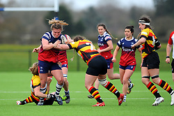 Sarah Bern of Bristol Bears Women is tackled by Luff of Richmond Women- Mandatory by-line: Nizaam Jones/JMP - 23/03/2019 - RUGBY - Shaftesbury Park - Bristol, England - Bristol Bears Women v Richmond Women- Tyrrells Premier 15s
