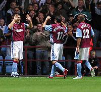 Photo: Dave Linney.<br />Aston Villa v Reading. The Barclays Premiership. 23/08/2006Aston Villa's .Gareth Barry(L) celebrates after making it 2-1 to Villa
