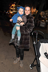 SASKIA WINBERGH and her son RIVER at the opening of the 2012 Winter Wonderland, Hyde Park on 22nd November 2012.
