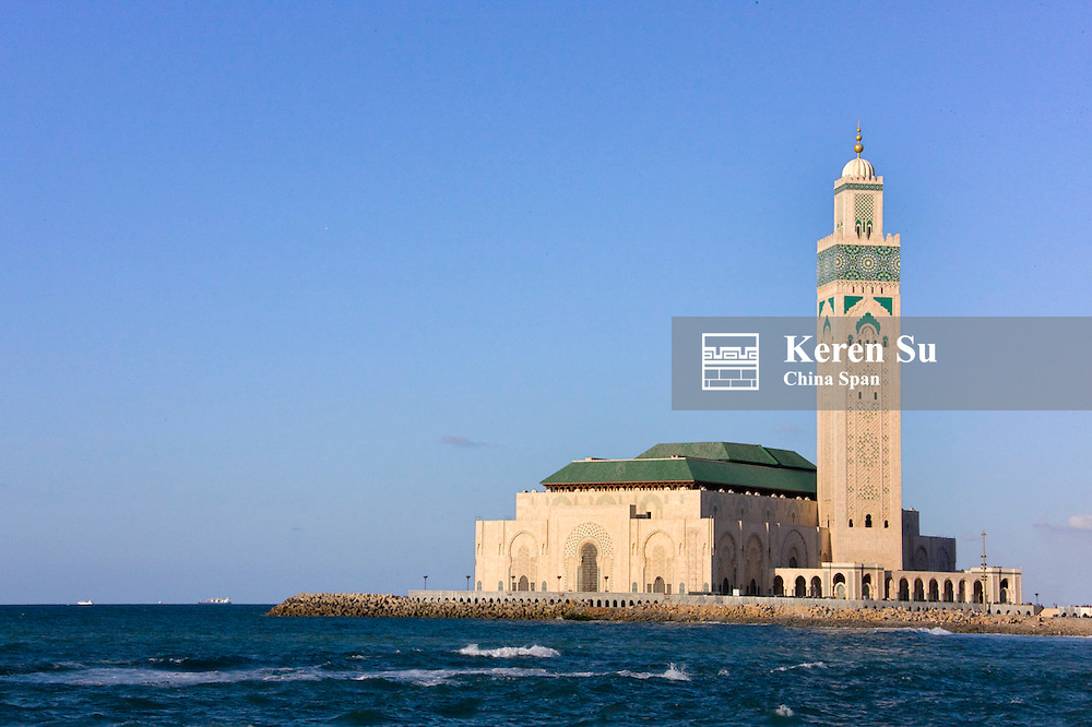 Hassan II Mosque by the ocean, Casablanca, Morocco