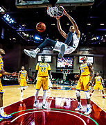 The UVU Wolverines men's basketball team against the University of Missouri Kansas City Kangaroos during the first round of the WAC Tournament in The Orleans Arena in Las Vegas, Nevada on Thursday March 10, 2016. The Kangaroos won 80-78. (Jay Drowns / UVU Marketing
