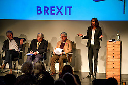 © Licensed to London News Pictures. 02/05/2017. London, UK. Lead claimant in the Article 50 legal case GINA MILLER Arrives to take part in a discussion titled How to Brexit: The Best Deal for Britain, hosted by the The how to: Academy, in West London. Also on the panel is STANLEY JOHNSON, father of Boris JohnsonPhoto credit: Ben Cawthra/LNP