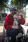 Glenn Fretz and his service dog, Bernie.