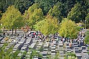 Berlin, Germany. Holocaust-Mahnmal by Peter Eisenman.