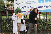 Vote Early Zombie at Sam Houston High School