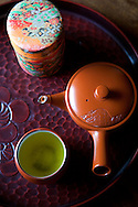 Japanese Green Tea Set - Japanese green tea, or ocha (o-cha) is the most common drink in Japan.  Not only is it loaded with vitamin C and caffiene, but its healthy antioxidant properties are making this drink a hit all around the world.