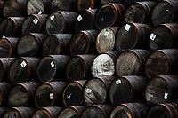 Barrels at Speyside Cooperage in Craigellachie, Banffshire, Scotland. Copyright 2019 Reid McNally.