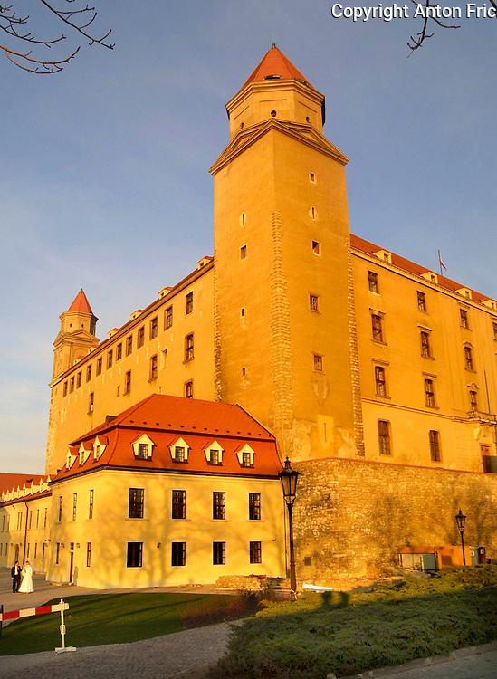 One of the four bastions of Bratislava castle in Bratislava, capital of Slovakia.