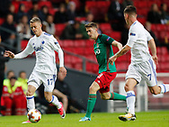 FOOTBALL: Kasper Kusk (FC København) is followed by Aleksei Miranchuk (Lokomotiv Moskva) during the UEFA Europa League Group F match between FC København and FC Lokomotiv Moskva at Parken Stadium, Copenhagen, Denmark on September 14, 2017. Photo: Claus Birch