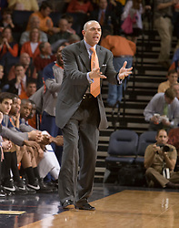 Virginia head coach Dave Leitao.  The Virginia Cavaliers men's basketball team fell to the #6 Duke Blue Devils 86-70 at the University of Virginia's John Paul Jones Arena in Charlottesville, VA on March 5, 2008.