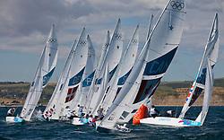 Star fleet windward mark<br /> <br /> 2012 Olympic Games <br /> London / Weymouth